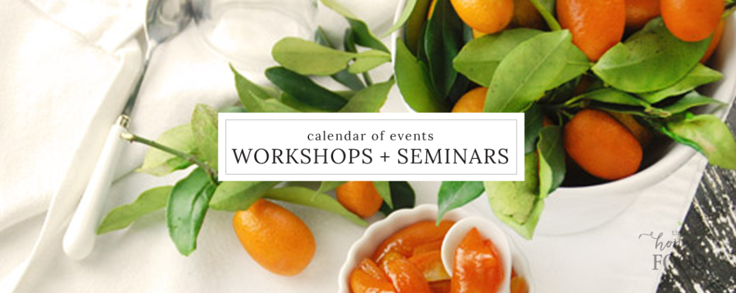 cooking classes, food seminars, and nutrition workshops in Central Florida