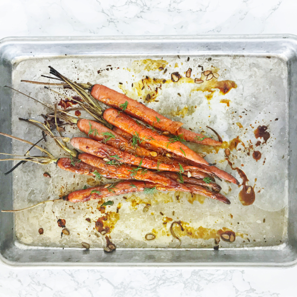 Roasted Carrots with Caraway