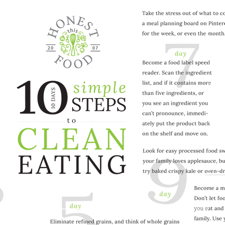 10 Steps to Clean Eating in 10 Days