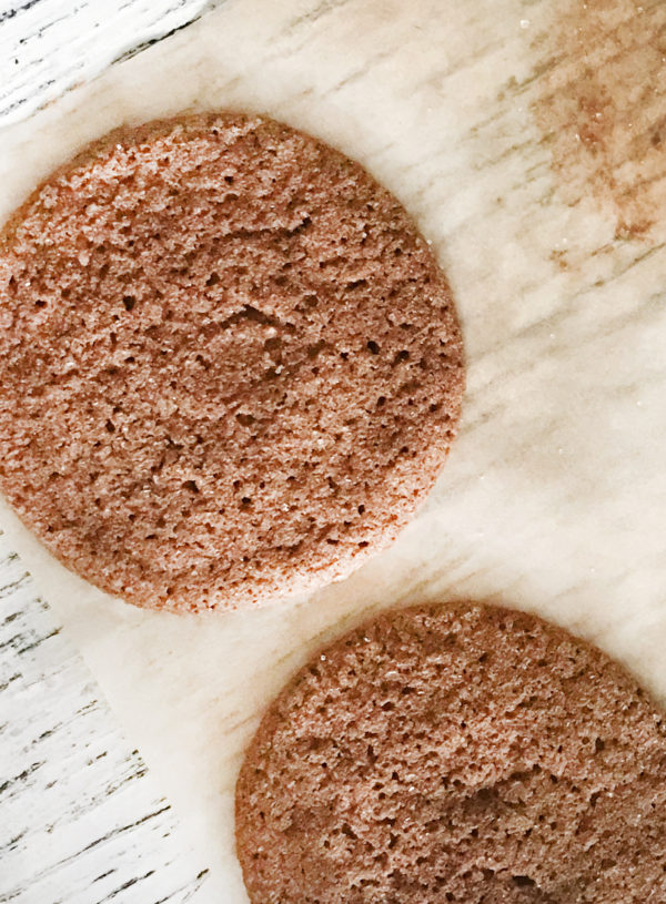 gluten-free chewy molasses pan-banging cookie