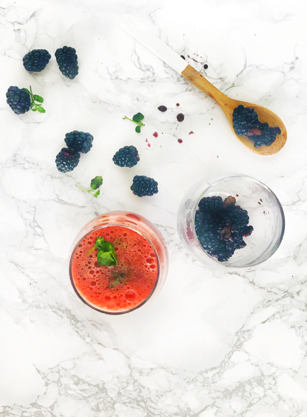 Frozen Watermelon-Blackberry Fizz